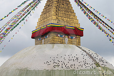The largest Buddhist stupa