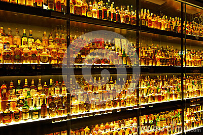 The largest Scotch Whisky collection in the world Editorial Stock Image