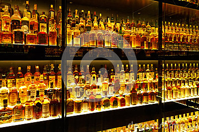 The largest Scotch Whisky collection in the world Editorial Photo