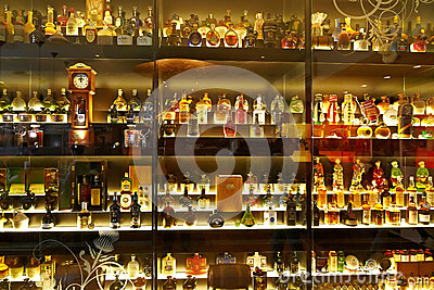 The largest Scotch Whisky collection in the world Editorial Stock Photo