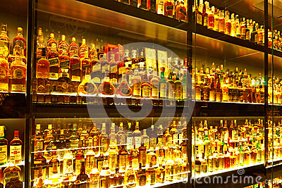 The largest Scotch Whisky collection in the world Editorial Image