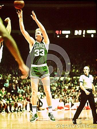Larry Bird Boston Celtics Legend Editorial Photography