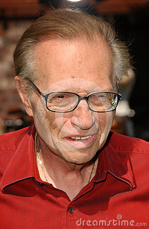 Larry King Editorial Stock Image