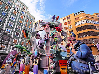 Las Fallas, Valencia, Spain Editorial Image