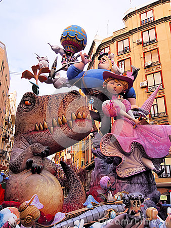 Las Fallas, Valencia, Spain Editorial Photography