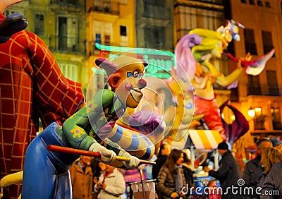 Las Fallas, Valencia, Spain Editorial Stock Image