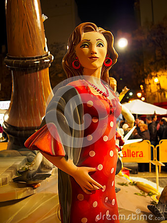 Las Fallas, Valencia, Spain Editorial Photo