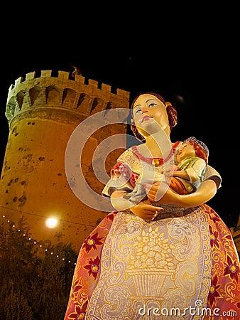 Las Fallas, Valencia, Spain Editorial Stock Photo