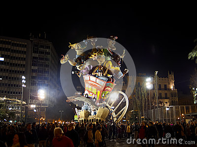 Las Fallas, Valencia, Spain Editorial Stock Photo