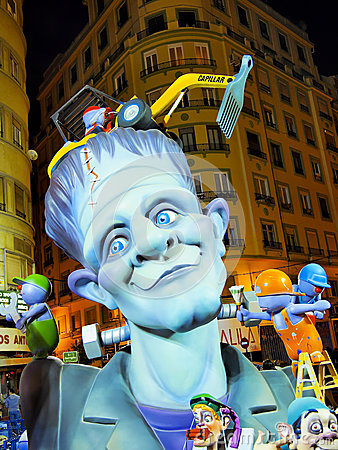 Las Fallas, Valencia, Spain Editorial Stock Image