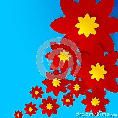 Las flores sombrearon el fondo