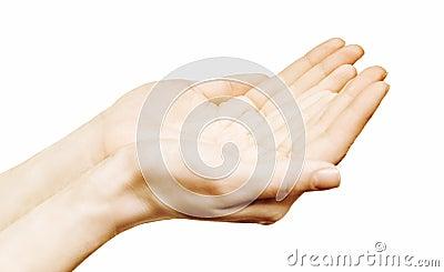 Las manos se abren
