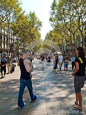 Las Ramblas, Barcelona Editorial Photography