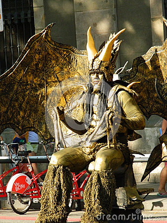 Free Las Ramblas Street Performer. Stock Image - 70059061