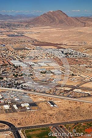 Las Vegas Aerial View Editorial Photo