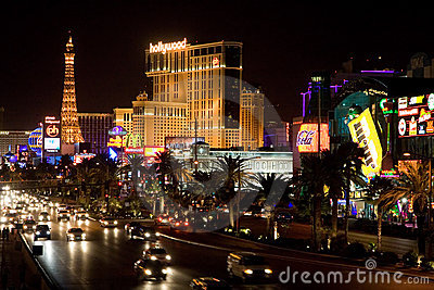 Las Vegas Boulevard Editorial Stock Photo
