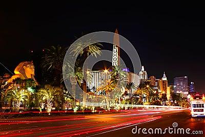 Las Vegas Boulevard Traffic Editorial Photography