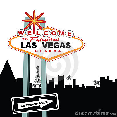 Las Vegas Boulevard Welcome Sign  Editorial Stock Photo