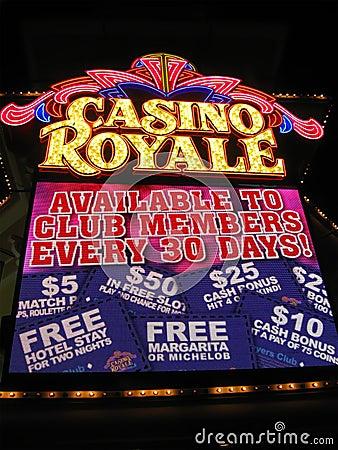 Las Vegas Casino Royale night illumination, Editorial Image