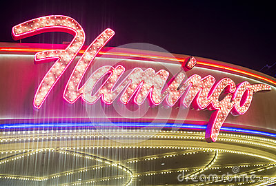 Las Vegas , Flamingo Editorial Stock Photo