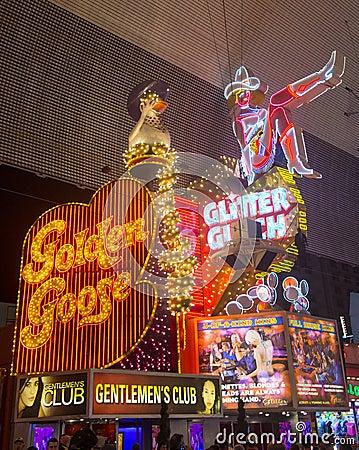 Las Vegas , Fremont Street Experience Editorial Stock Photo