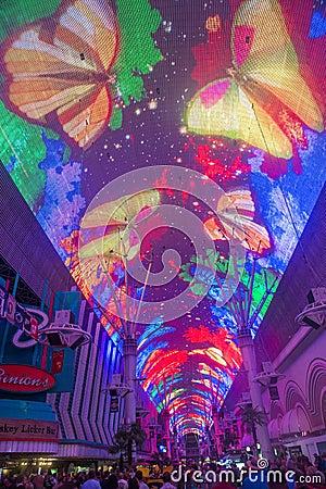 Las Vegas , Fremont Street Experience Editorial Photo