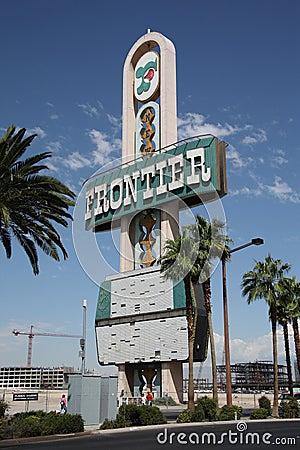 Las Vegas - Frontier Hotel Marquee Editorial Stock Image