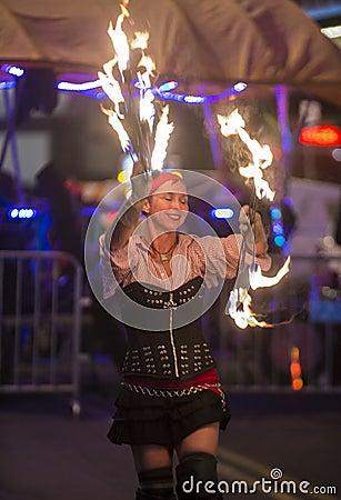 Las Vegas Halloween parade Editorial Stock Photo