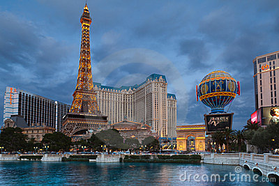 Las Vegas, Hotel Paris. Editorial Stock Image