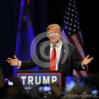 Free LAS VEGAS NEVADA, DECEMBER 14, 2015: Republican Presidential Candidate Donald Trump Speaks At Campaign Event At Westgate Las Vegas Stock Photography - 66213902