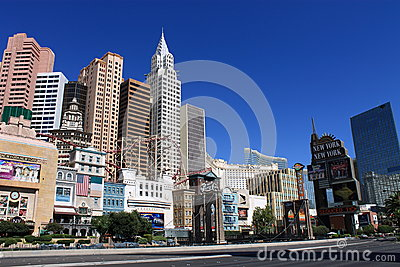 Las Vegas - New York New York Hotel Editorial Photography