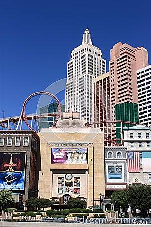 Las Vegas - New York New York Hotel and Casino Editorial Stock Image