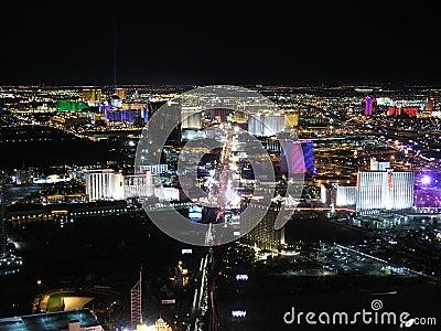 Las Vegas Night Editorial Stock Photo