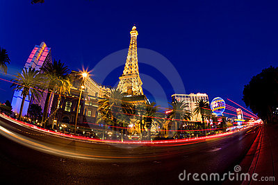 Las Vegas at night Editorial Photo