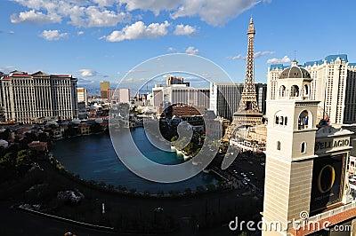 Las Vegas at night Editorial Stock Photo