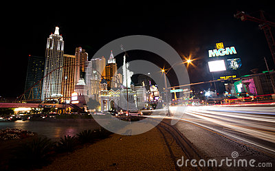 Las Vegas at night Editorial Image
