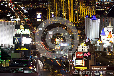 Las Vegas at night Editorial Photography