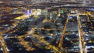 Las Vegas (night ariel) Editorial Photography