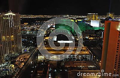 Las Vegas at Night - Las Vegas, USA Editorial Stock Image
