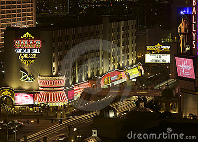 Las Vegas Night view of The Strip Junction Editorial Photography