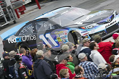 NASCAR: Denny Hamlin and fans Editorial Image