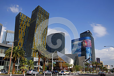 LAS VEGAS NV - SEPTEMBER 04: The Las Vegas Strip on September 04 Editorial Photography