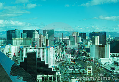 Las Vegas panorama Editorial Stock Photo