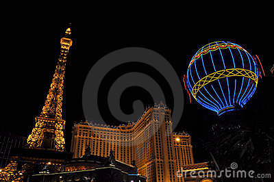Las Vegas Paris Editorial Stock Image