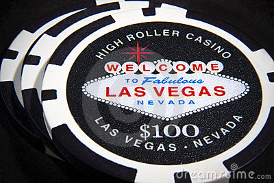 Las Vegas poker chips Editorial Stock Image
