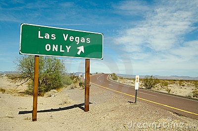 Las Vegas Only Road Sign