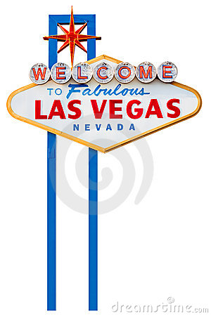Free Las Vegas Sign Isolated On White Stock Image - 9866481