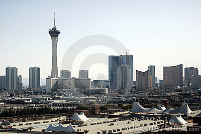 Las Vegas skyline at daytime Editorial Image