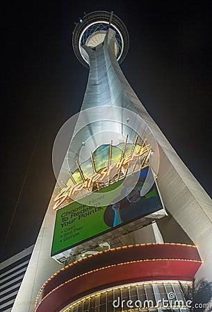 Las Vegas , Stratosphere Tower Editorial Stock Photo