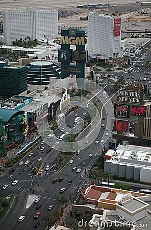 Las Vegas Strip at daytime Editorial Stock Photo